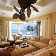 Eclectic Family Room by Franco A. Pasquale Design Associates, Inc