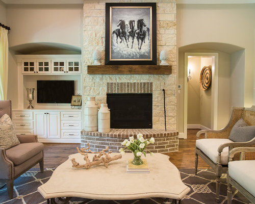 Stone And Brick Fireplaces Ideas Pictures Remodel And Decor