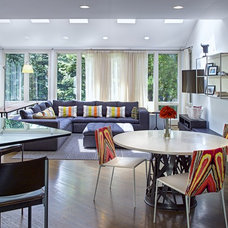 Contemporary Family Room by Dunlap Design Group, LLC
