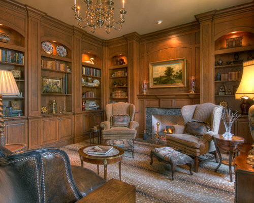 Groovy Wood Paneled Library Design Ideas Remodel Pictures Houzz Largest Home Design Picture Inspirations Pitcheantrous