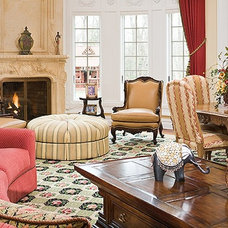 Traditional Family Room by Ron Nathan Interior Design Group
