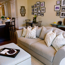Traditional Family Room by SuzAnn Kletzien Design