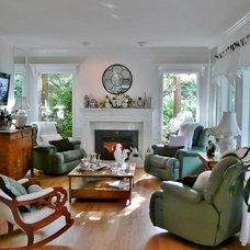 Contemporary Family Room Frenchflair