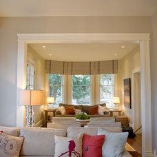 Beach Style Family Room by Blue Garnet Design/The Design Mill
