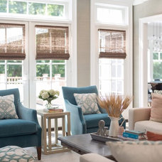 Beach Style Family Room by Cory Connor Designs