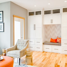 Transitional Family Room by Design Harmony