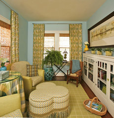 eclectic family room by Dona Rosene Interiors