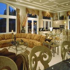 Traditional Family Room by J. Hettinger Interiors