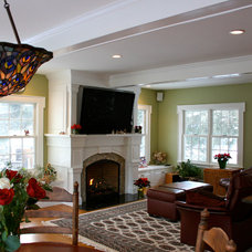 Traditional Family Room by Michael Hally Design, Inc