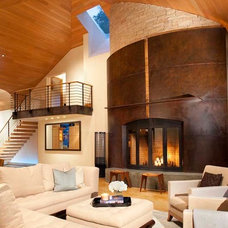 Contemporary Family Room by Charles Cunniffe Architects Aspen