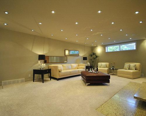 Inspiration for a contemporary family room remodel in Edmonton & High Hat Light Ideas u0026 Photos   Houzz azcodes.com