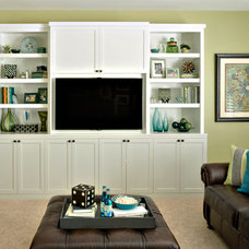 Transitional Family Room by Marker Girl Home