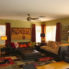 Eclectic Family Room by Maison4 Design