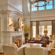 Eclectic Family Room by Gabriel Builders Inc.