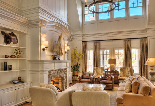Beach Style Family Room by Gabriel Builders Inc.
