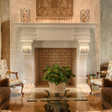 Mediterranean Family Room by Gabriel Builders Inc.