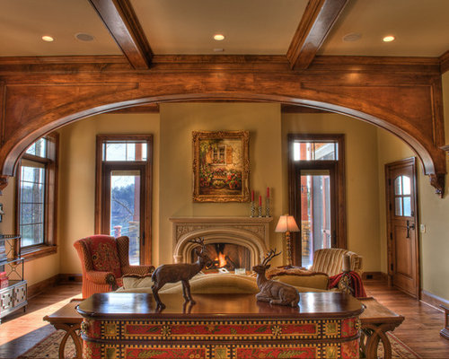 Wood arch houzz for Interior design for living room arch
