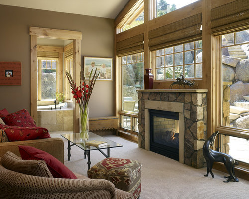 Window Above Fireplace Houzz