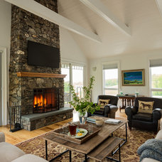 Farmhouse Family Room by Crisp Architects
