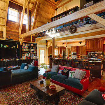 Gambrel Roofed Waterfront Farmhouse