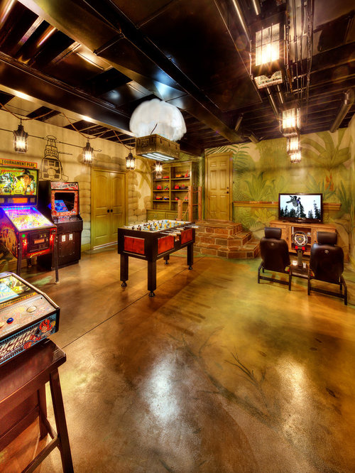 Basement Game Room Home Design Ideas Pictures Remodel
