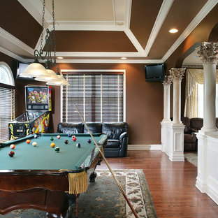Inspiration for a timeless game room remodel in New York