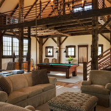 Rustic Family Room by Crisp Architects
