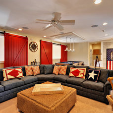 Beach Style Family Room by Echelon Custom Homes