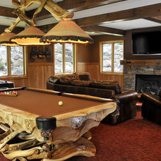 Traditional Family Room by JG Development, Inc.