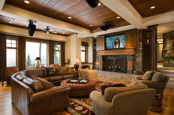 Traditional Family Room by Locati Architects