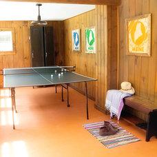 Rustic Family Room by Landing Design & Development