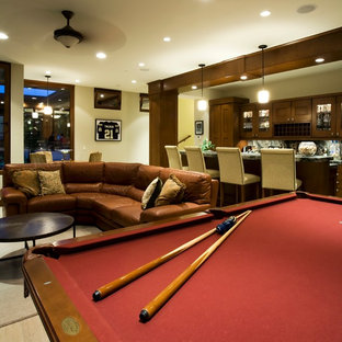 Family room - craftsman family room idea in San Diego