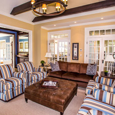 Traditional Family Room by Beach Glass Interior Designs