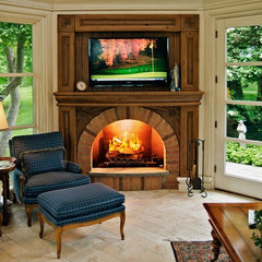 traditional family room by Will Waibel