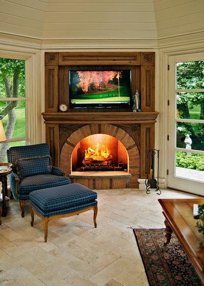 Traditional Family Room by Dan Waibel Designer Builder