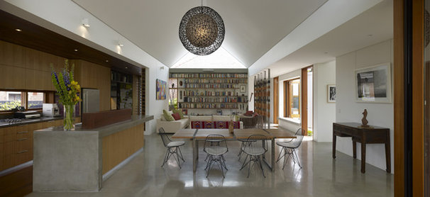 Contemporary Family Room by Sam Crawford Architects