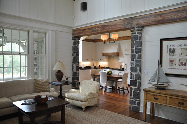 Traditional Family Room by Cornerstone Construction