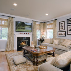 Traditional Family Room by Constance Hall Design, Inc.