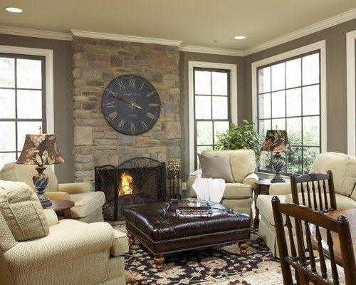 Clock over fireplace home design ideas pictures remodel - Over the fireplace decor ...