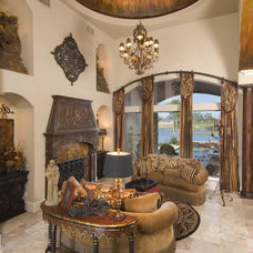 Traditional Family Room by BuildPro Building Services