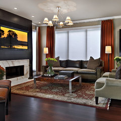 contemporary family room by AMW Design Studio