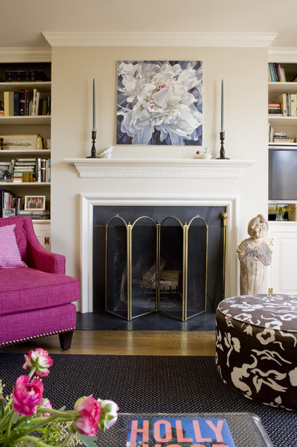 traditional family room by Liz Levin Interiors