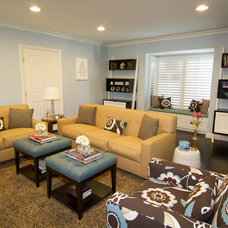 Contemporary Family Room by Georgette Westerman Interiors