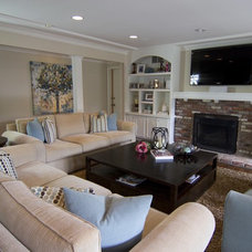 Traditional Family Room by Georgette Westerman Interiors