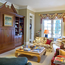 Traditional Family Room by Christopher A Rose AIA, ASID