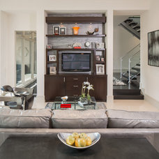 Contemporary Family Room by Thompson Custom Homes