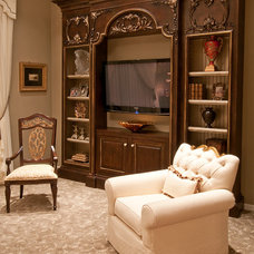 Traditional Family Room by Feathers Fine Custom Furnishings