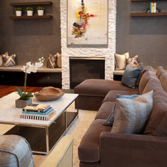modern family room by Design Loft Interiors