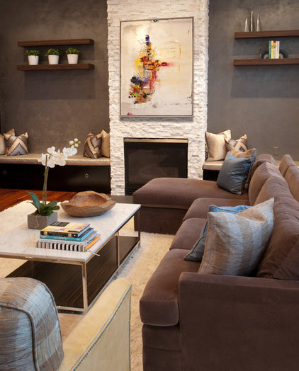 Contemporary Family Room by Fanny Zigdon Interiors