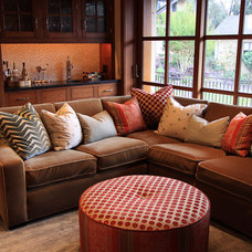 Traditional Family Room by Deborah Lewis Design